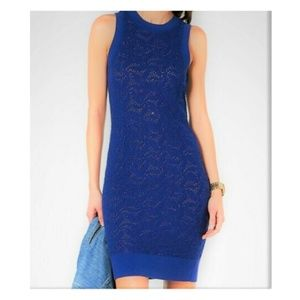 Michael Kors Sleeveless Sweater Lace Sheath Dress